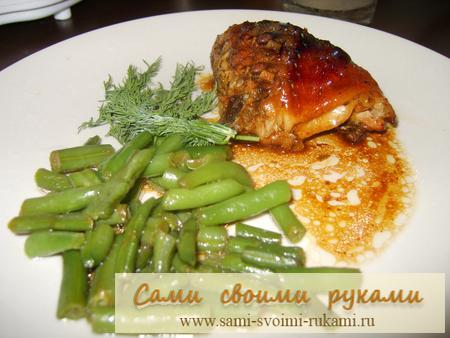 Курица с медом и соевым соусом - рецепт приготовления