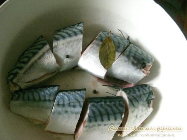 Солёная скумбрия в домашних условиях - рецепт с фото