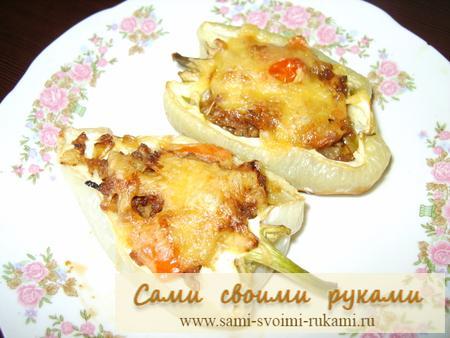 Запеченный болгарский перец с фаршем - рецепт