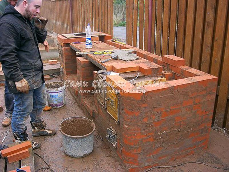 Печь мангал на даче своими руками