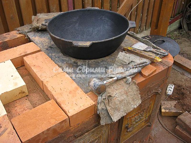 Печь мангал буран своими руками