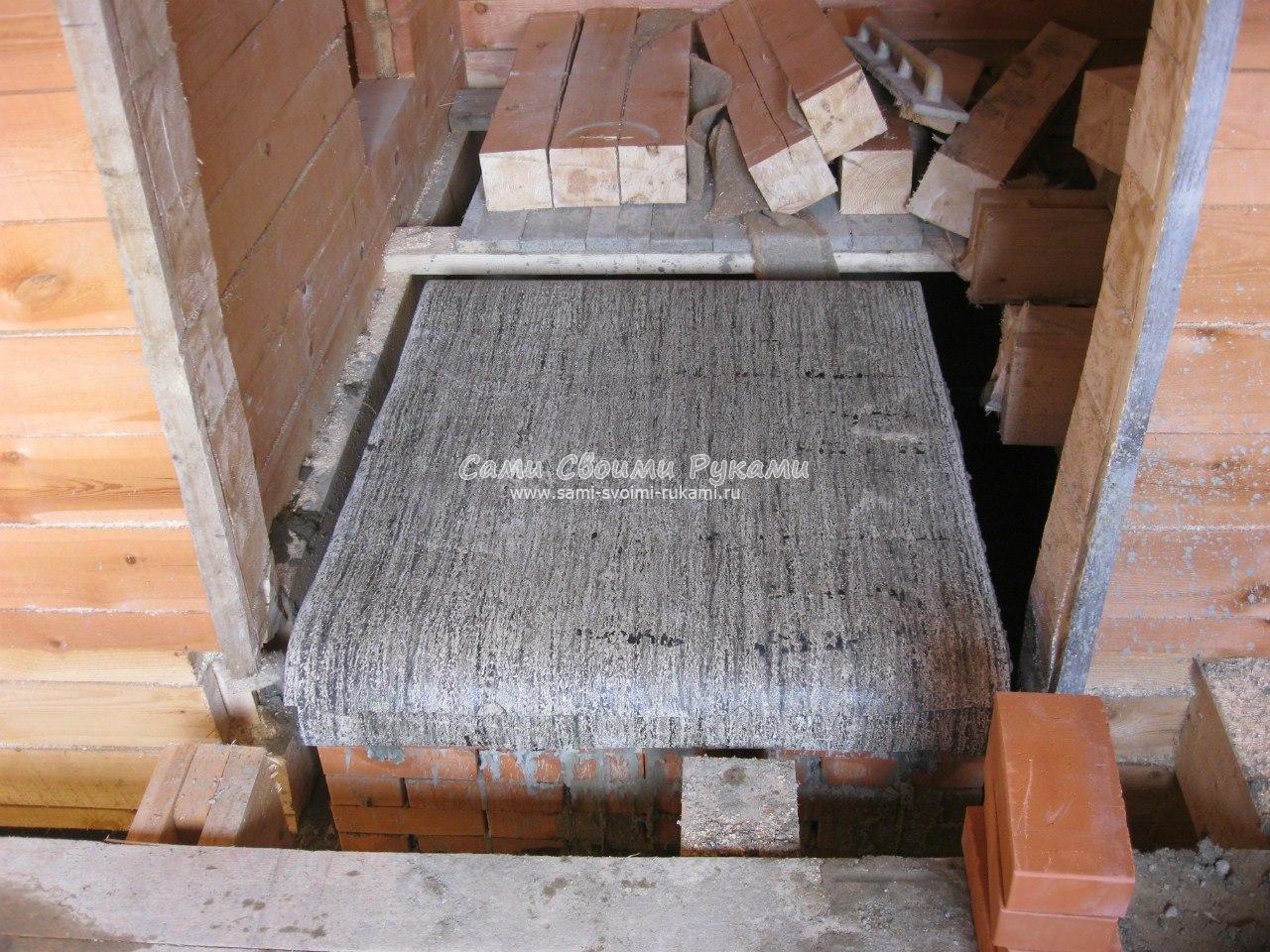 Установка печи в бане на деревянный пол - пошаговая инструкция! 25