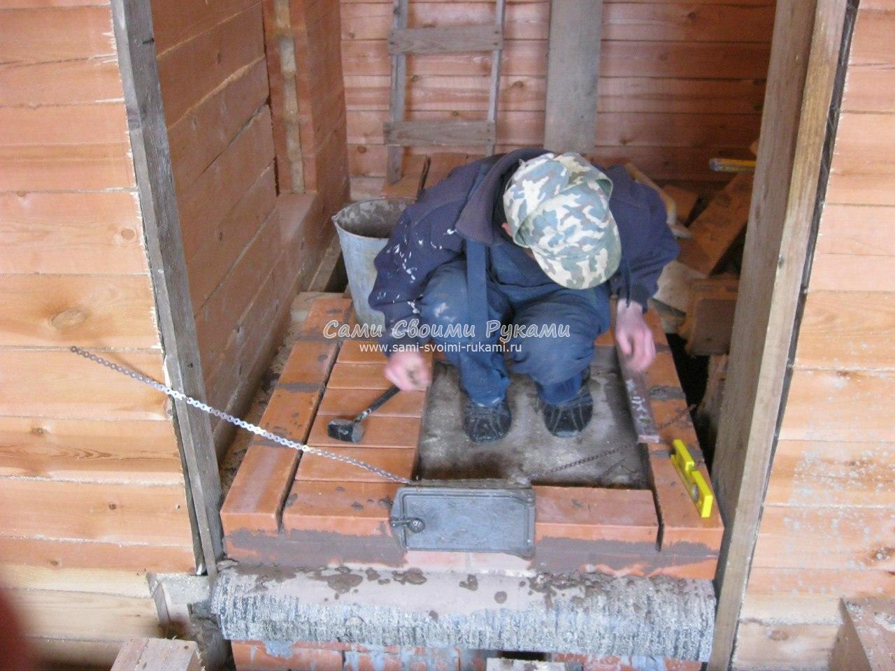 Строим печь в бане своими руками 735