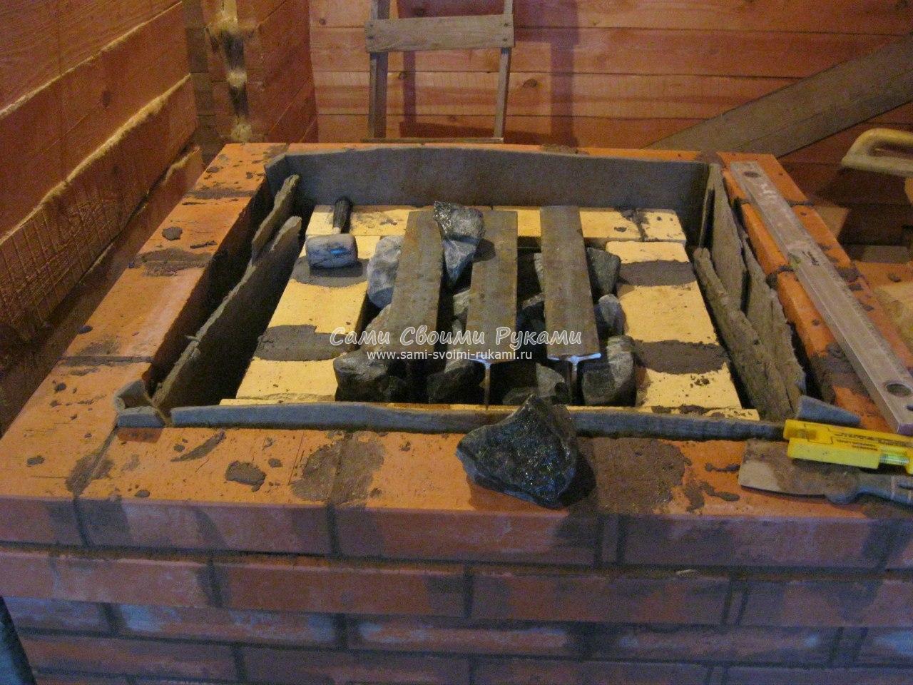 Делаем печь для бани из кирпича своими руками