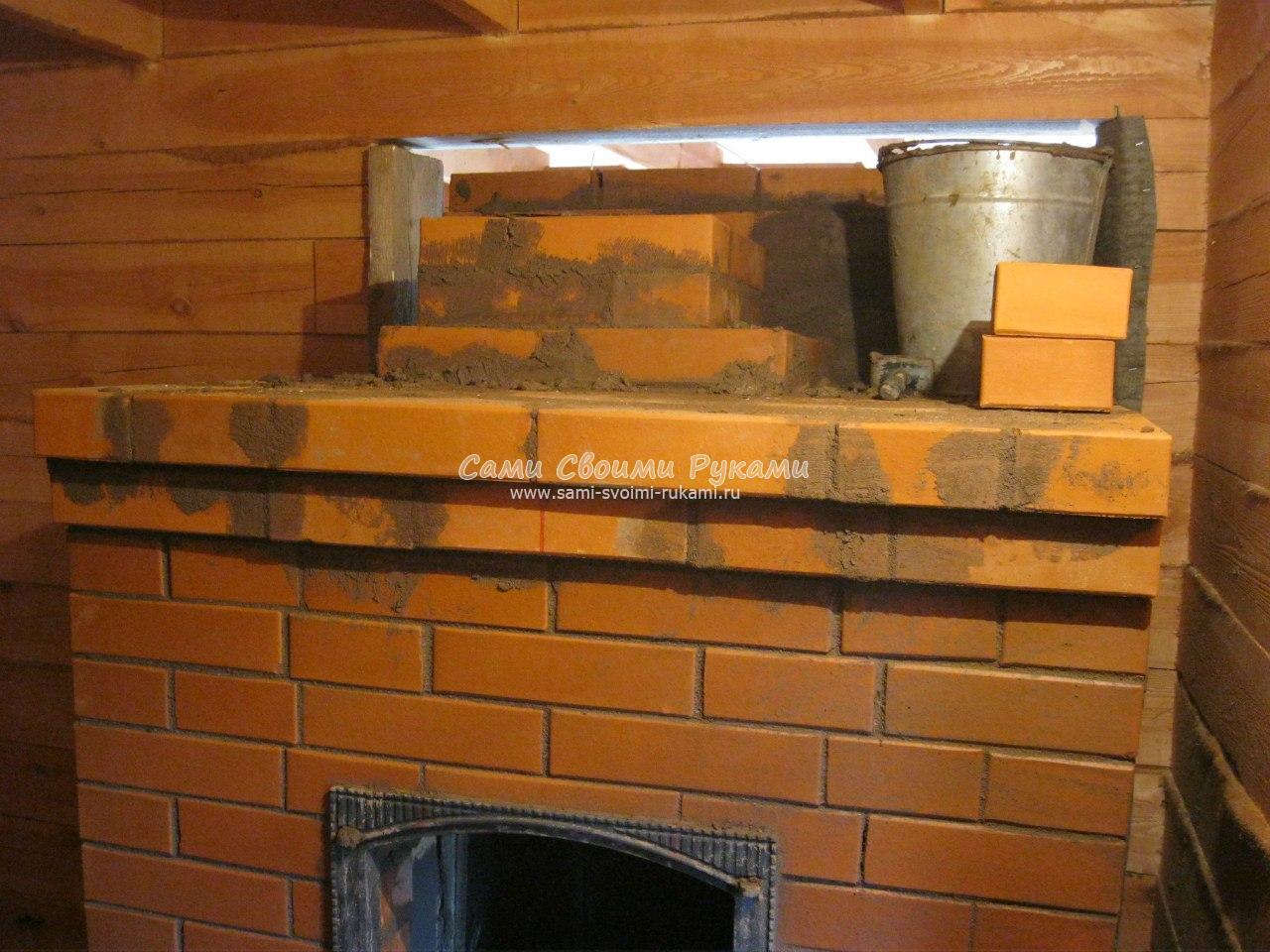 Печка печь из кирпича с встроенной каменкой для русской бани как построить