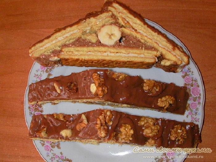Торт из печенья - Домик - рецепт, фото