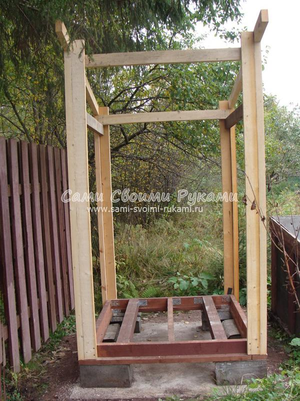 Как построить деревянный туалет своими руками фото 33