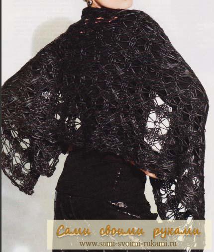 Кружевная шаль — вяжем спицами