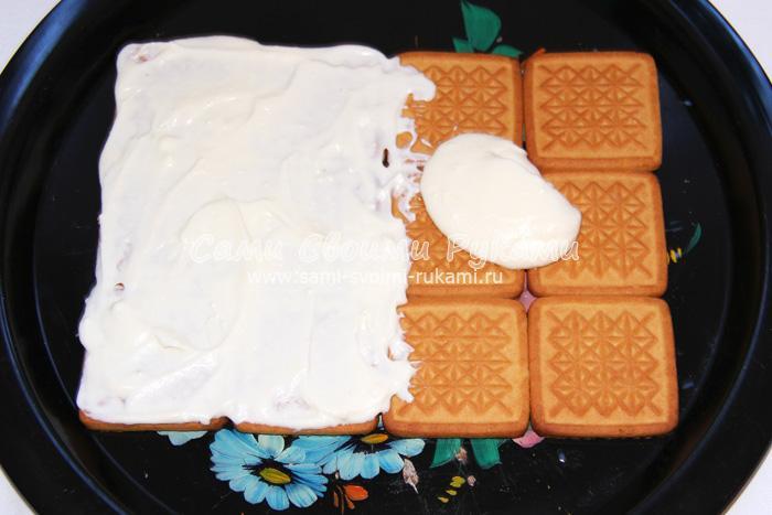 торт с творожным кремом рецепт с фото пошагово без выпечки