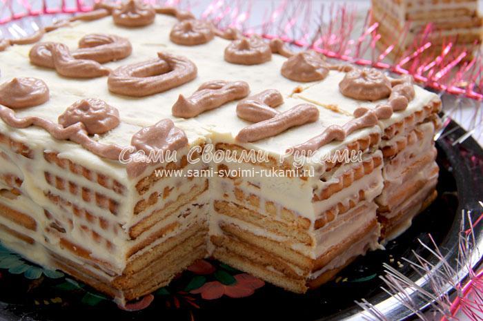 рецепты тортов без выпечки и желатина
