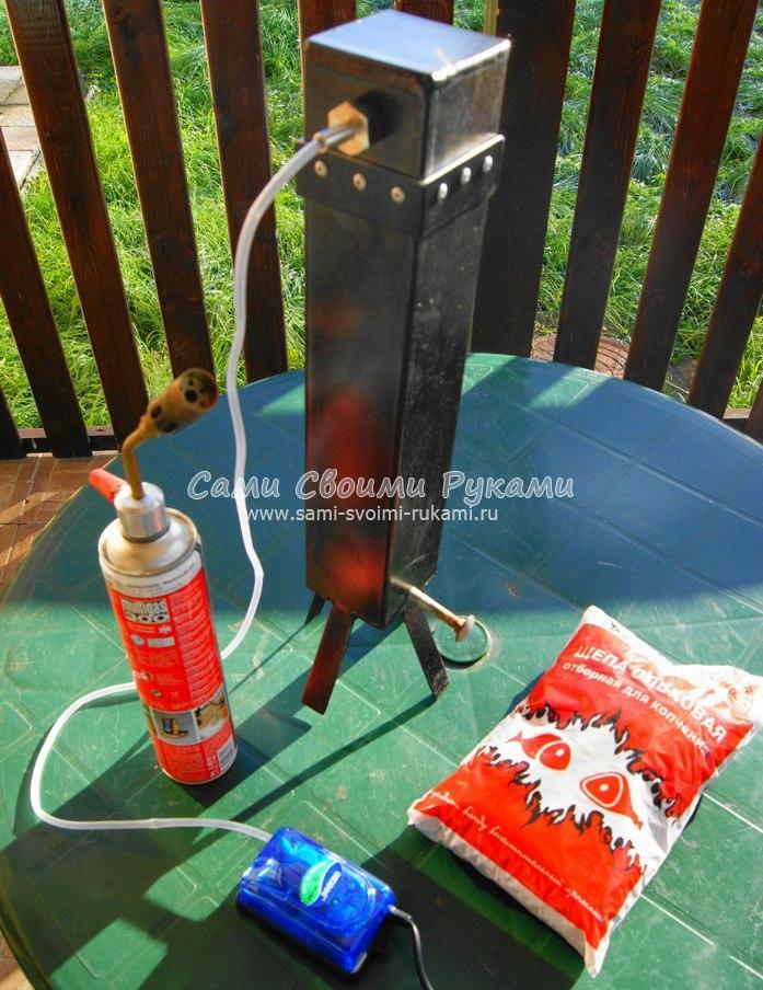 Как сделать дымогенератор из термоса
