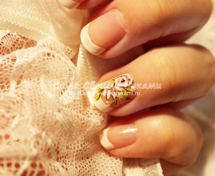 Белые ногти маникюр