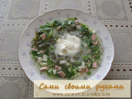 Холодный суп - рецепт приготовления