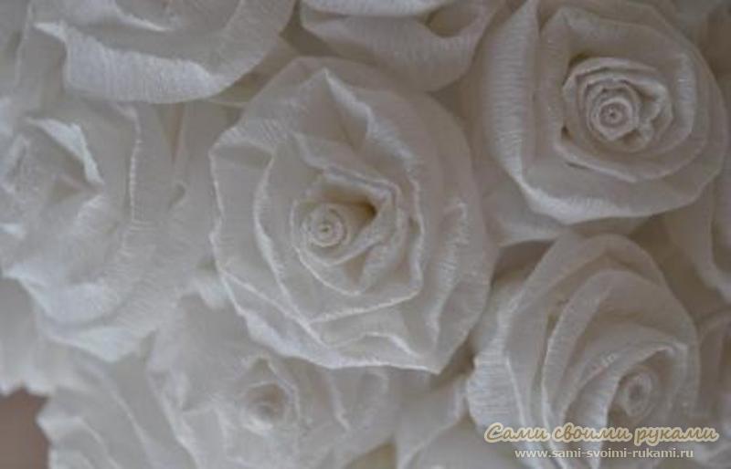 Шар из роз, как сделать - мастер класс с фото