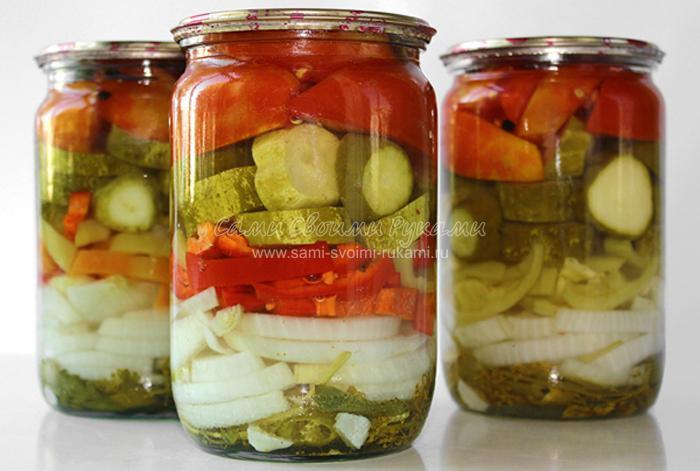 169Салат помидоры и огурцы на зиму рецепт