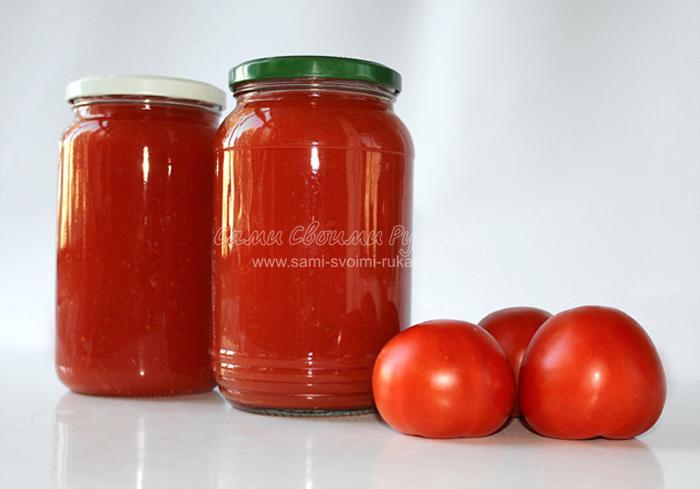 Консервированный томатный сок на зиму
