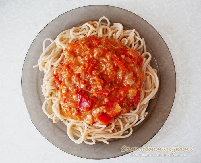 Как приготовить пасту (помидоры, сыр)