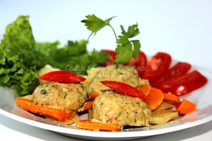 Рецепт паровых котлет с овощами