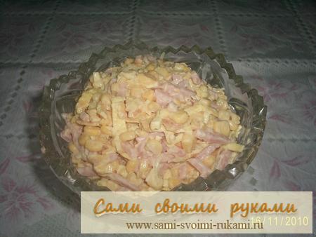 Салат из блинчиков - рецепт