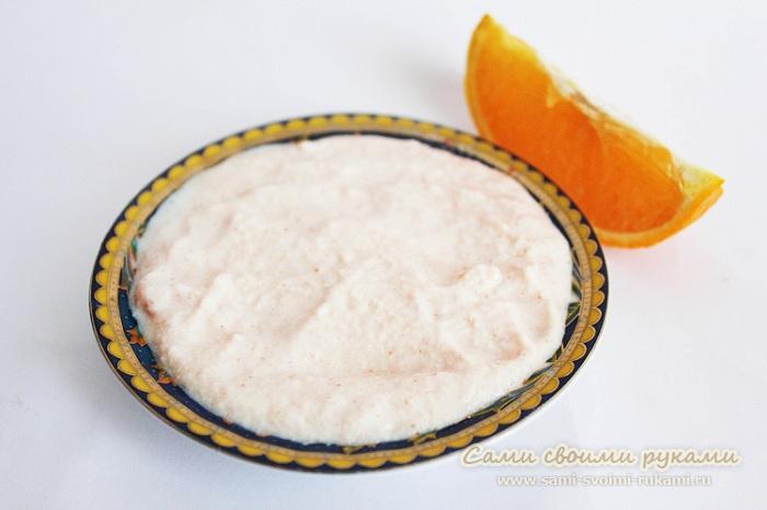 Очищающая маска с апельсином