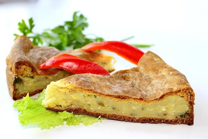 рецепт приготовления пирога с картошкой в духовке