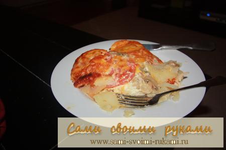 Курица слоями с картошкой в духовке
