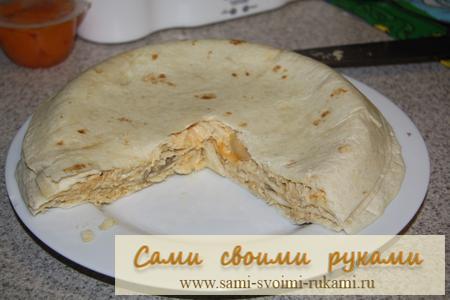 Блинно-мексиканский пирог