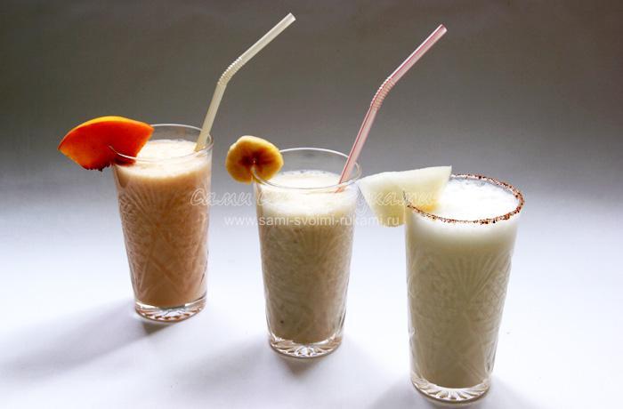 Молочные коктейли с фруктами