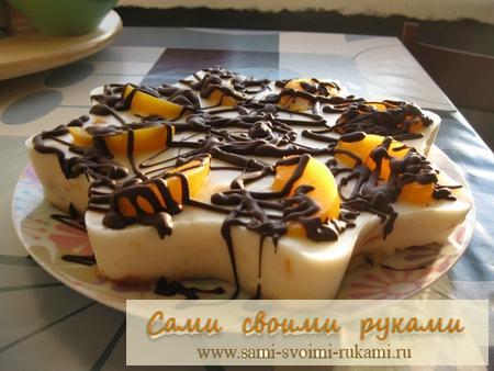 Торт необычной формы и очень вкусный