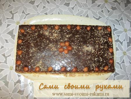 Вафельный торт со сгущенкой - рецепт