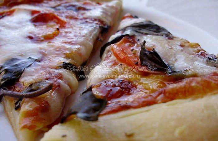 Рецепт пиццы Маргарита за 60 минут