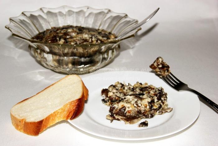 Рецепт жареных грибов в сметанном соусе