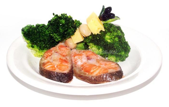 Рецепт форели в духовке, запеченной с брокколи