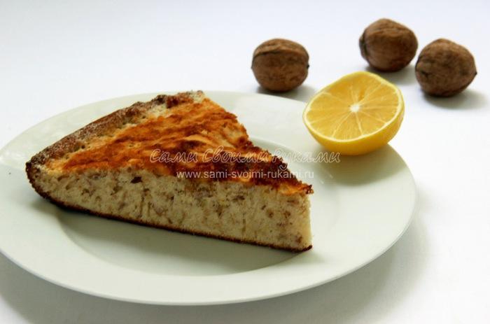 Рецепт торта с орехами и лимонной цедрой