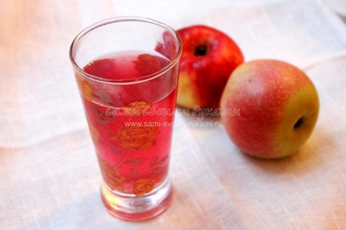Рецепт компота из яблок и винограда