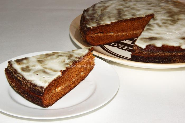 Рецепт медового торта со сметанным кремом