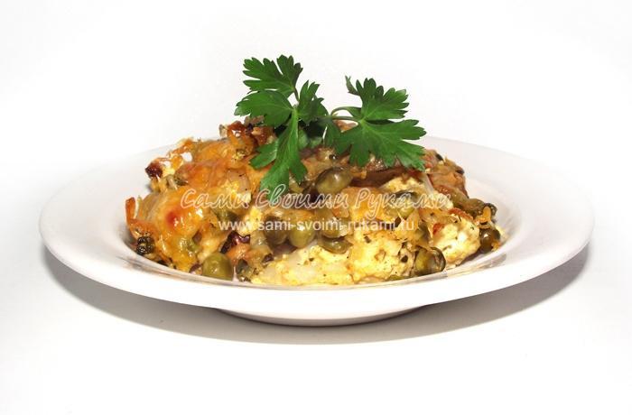 Запечённый картофель с цветной капустой