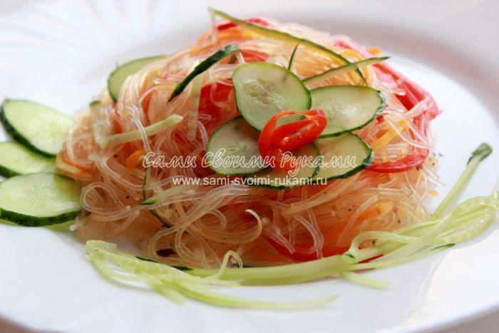 Рецепт фунчозы с овощами