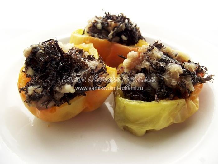 Болгарский перец фаршированный грибами