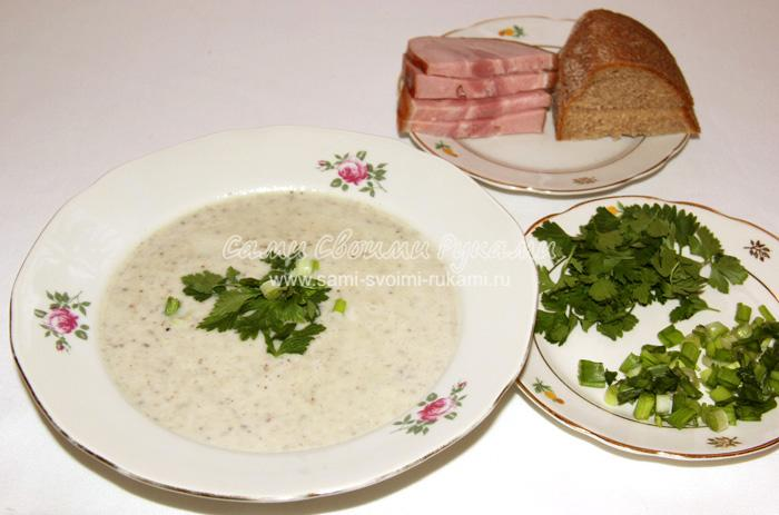 Грибной суп-пюре из шампиньонов