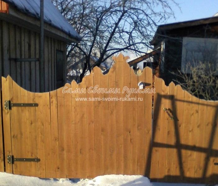 Как сделать деревянные ворота своими руками, мастер класс с фото