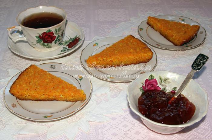 Манник с тыквой и апельсином на кефире, рецепт с фото
