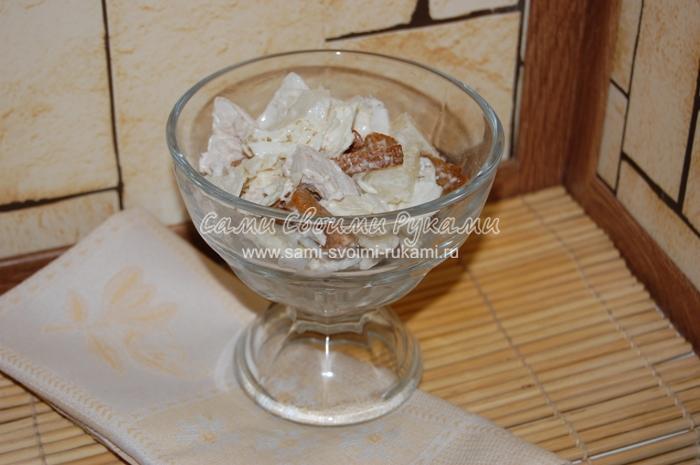 Рецепт порционного салата Цезарь