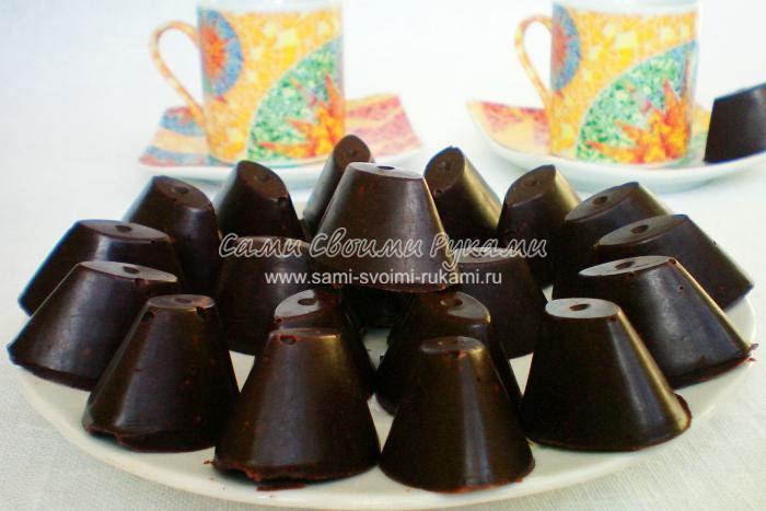 Рецепт шоколадных конфет с грецкими орехами