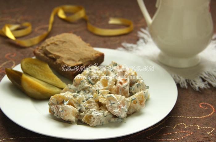 Рецепт печеного картофеля в сметанном соусе
