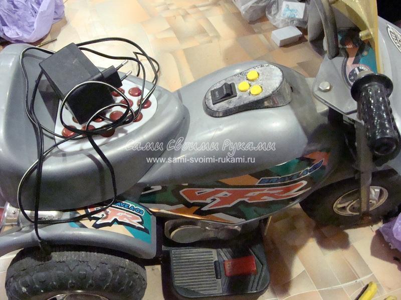 Ремонт детского аккумуляторного мотоцикла