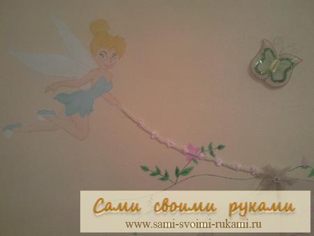 Оформление детской комнаты - феи, бабочки, кружево