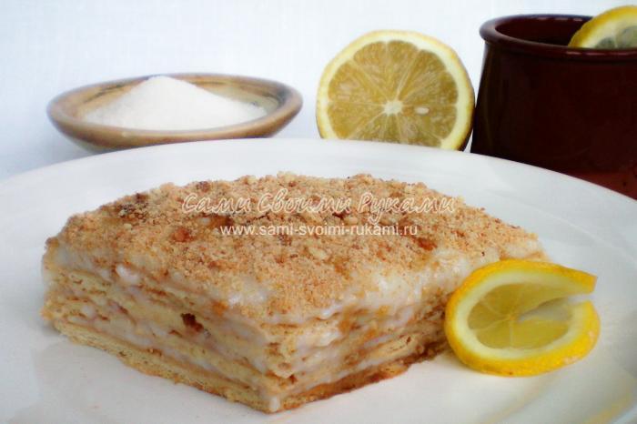 Рецепт лимонно-медового торта