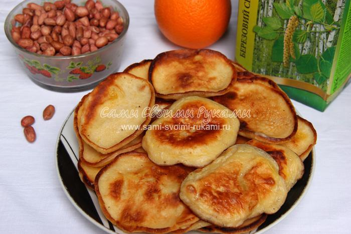 Оладьи с апельсином на ряженке, рецепт с фото