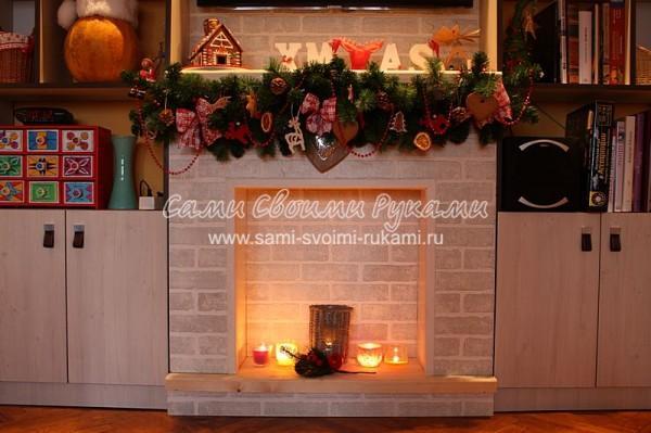 Декоративный камин своими руками в квартире - как сделать красиво
